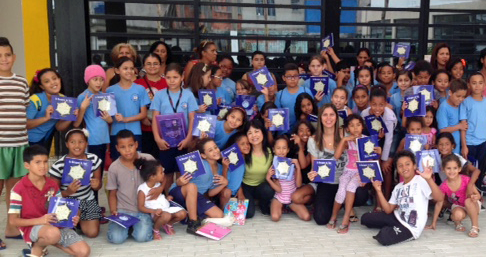 With kids in Brazil-March, 2015